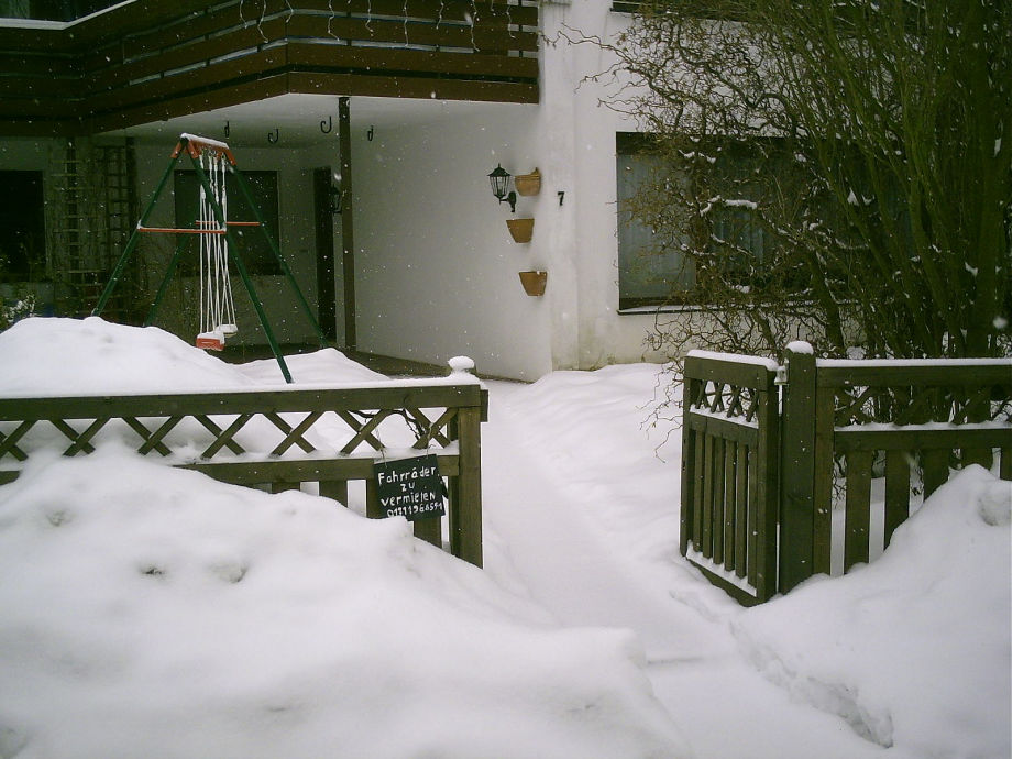 Entrance of the vacation apartmant