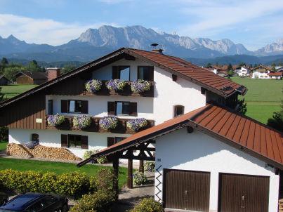 Zugspitz aus dem Gästehaus Tiefenbrunner
