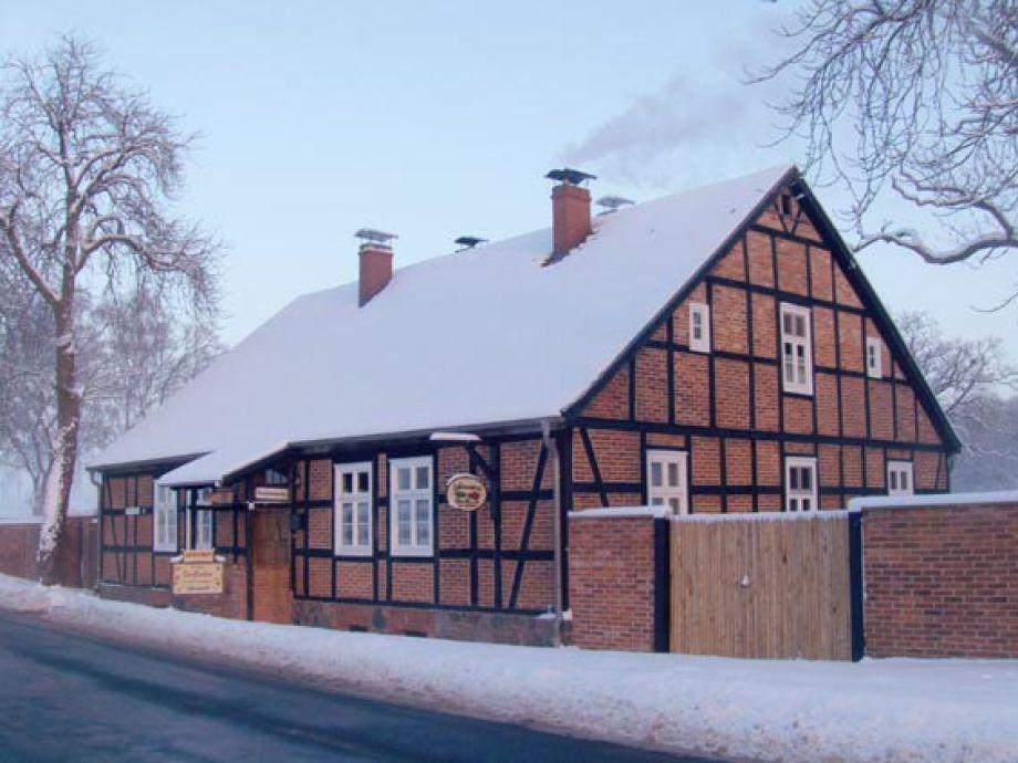 Fachwerkhaus Lebenswert im Winter