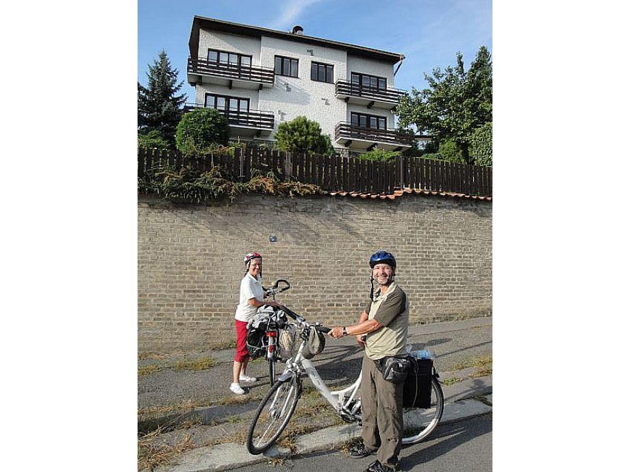Radfahrer bei uns