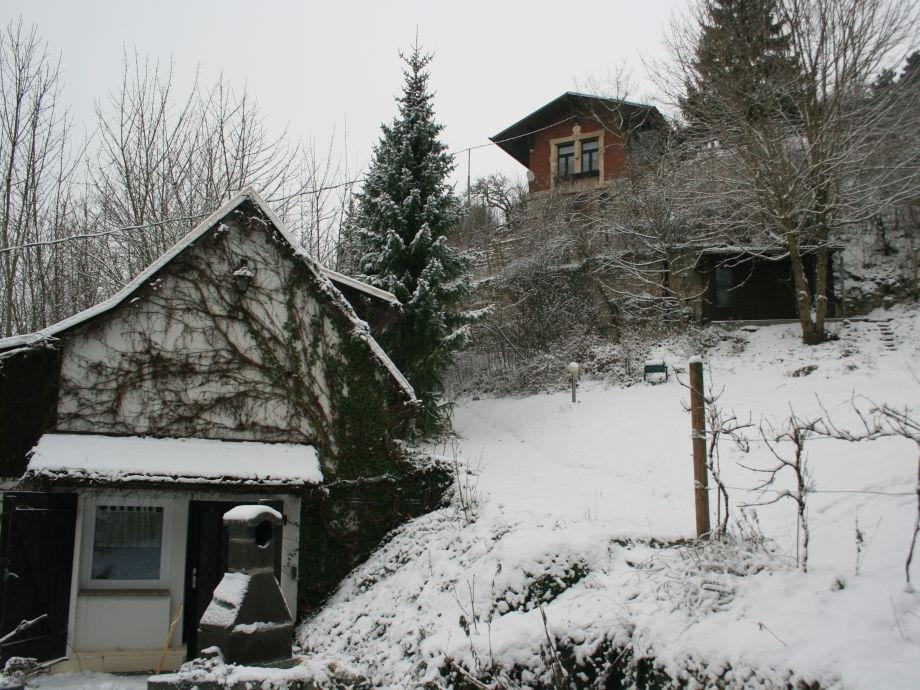 "Winter im Weinberg ""Große Reblaus"" + ""Weinbergshaus"""