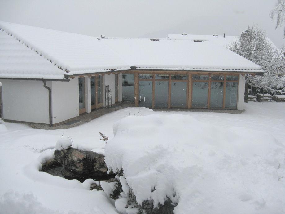Wasserhaus im Winter