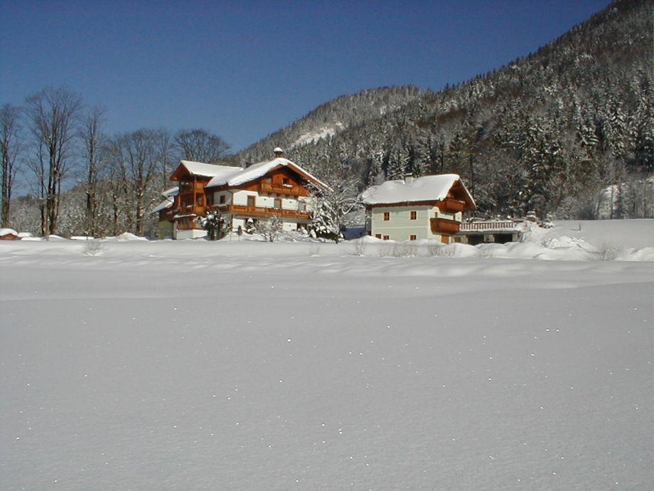 Haus Hirschpoint im Winter
