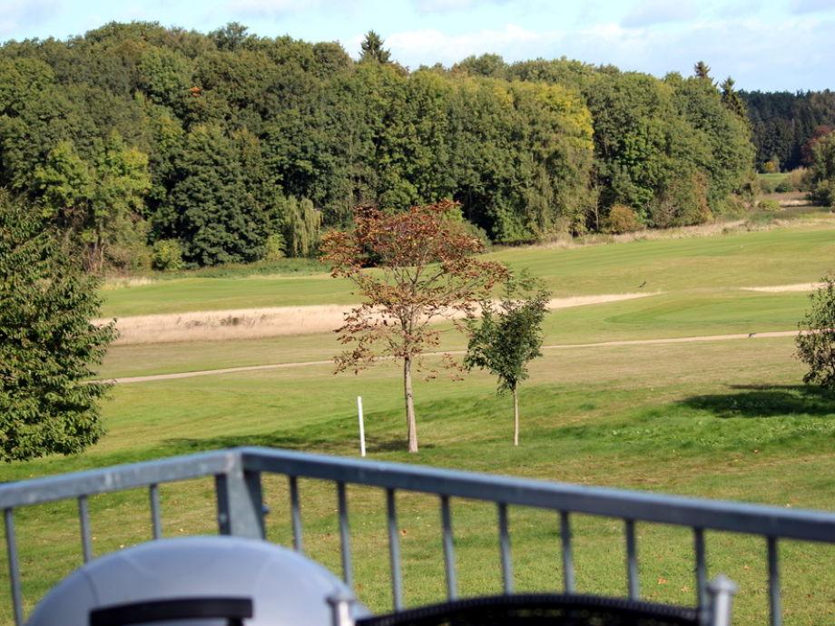 Sonnenbalkon mit Blick auf den Schloss Course