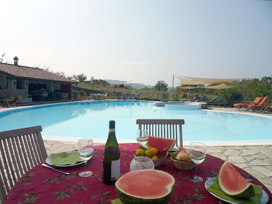 Pool&Poolhaus, Teakmöbel, Sonnensegel: Ferien pur