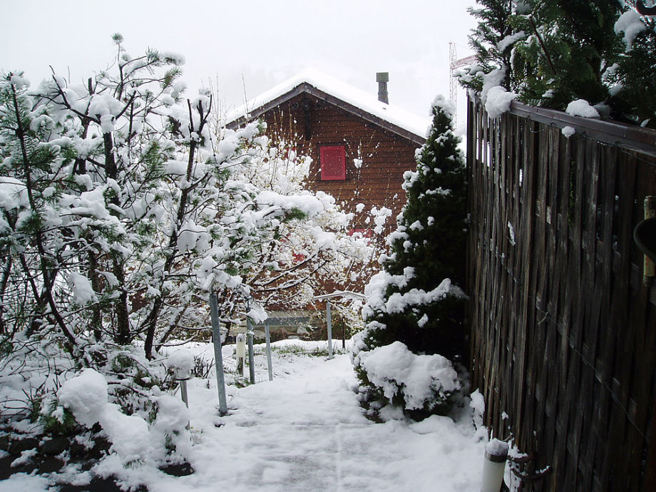 chalet in winter time
