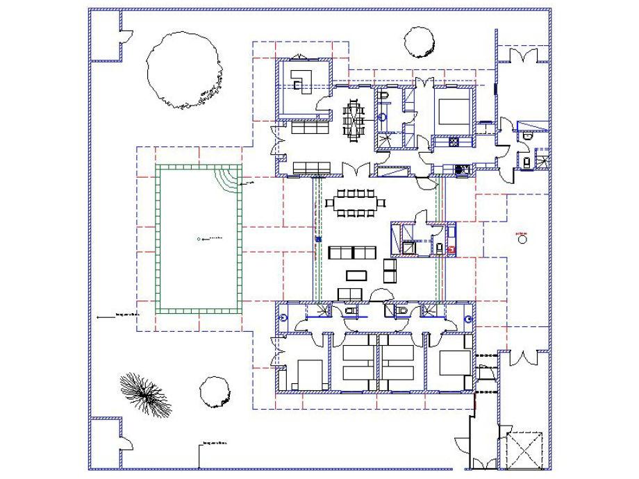 Grundriss villa mit pool  Ferienhaus Villa Saly mit Pool und Hauspersonal, Petite Côte ...