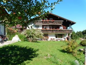 Ferienwohnung Gebirgsbach mit Bergblick