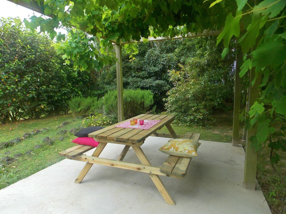 Pergola with barbeque