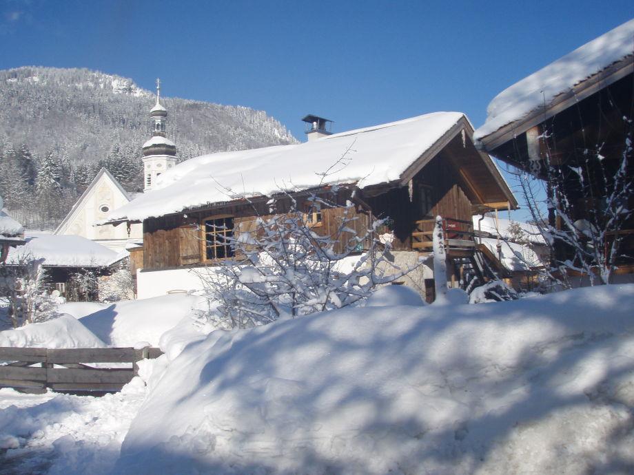 Winter in Sachrang das Alte ZUHAUS