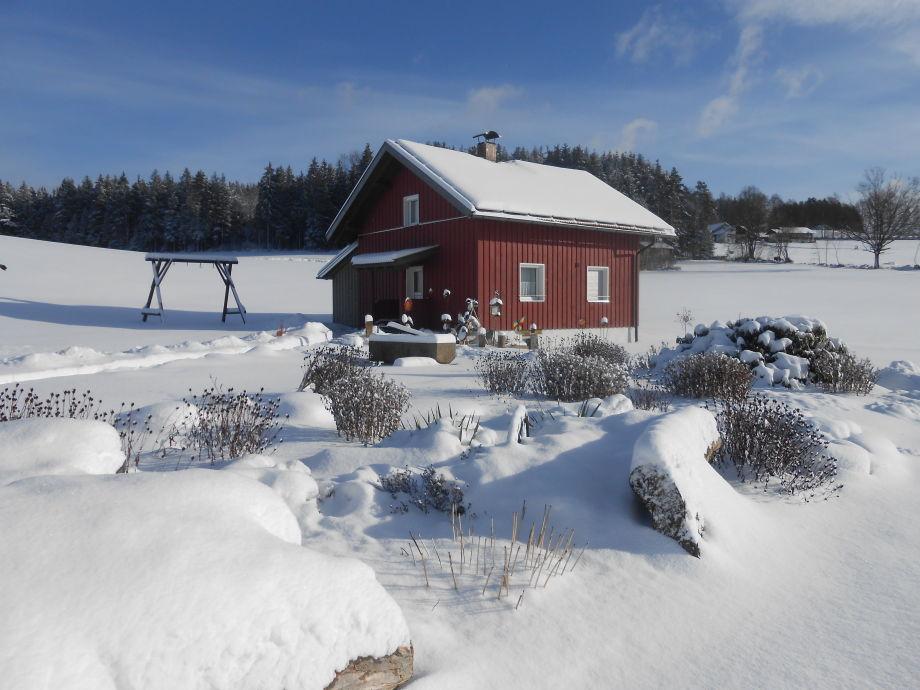 Ferienhaus Arberblick in wunderschöner Winterlandschaft