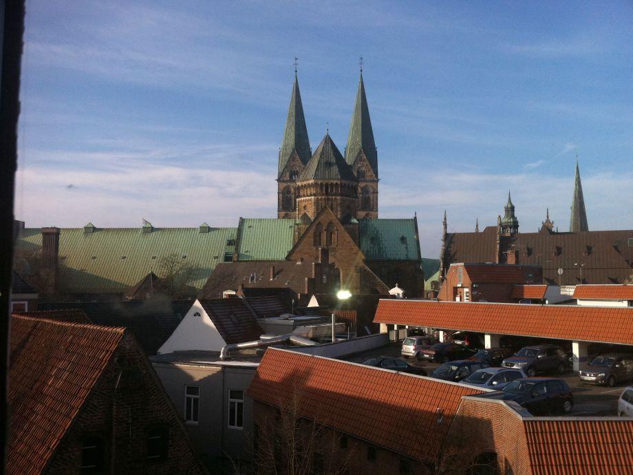 Winterwunderland Um Die Ecke Blick Aus Dem Wohnzimmer Auf Den Bremer Dom