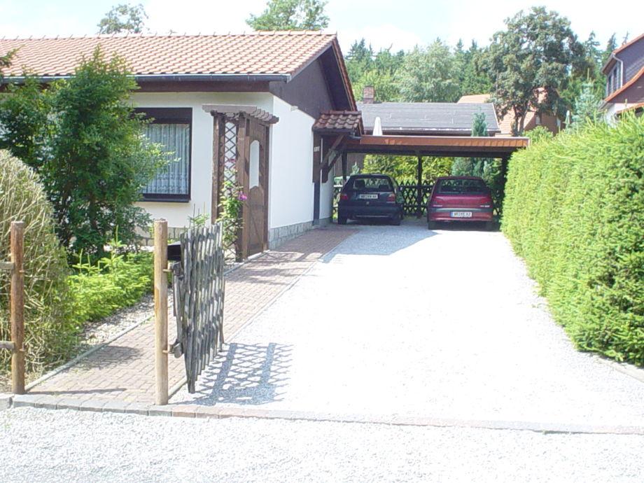 Doppelcarport am Ferienhaus