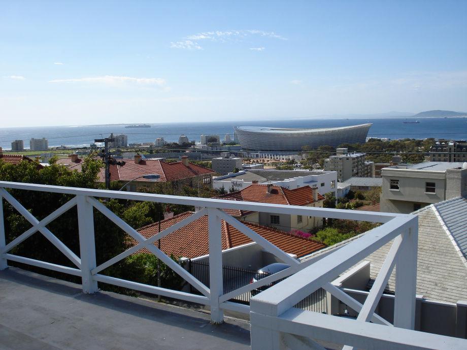 Der Blick auf das Stadion