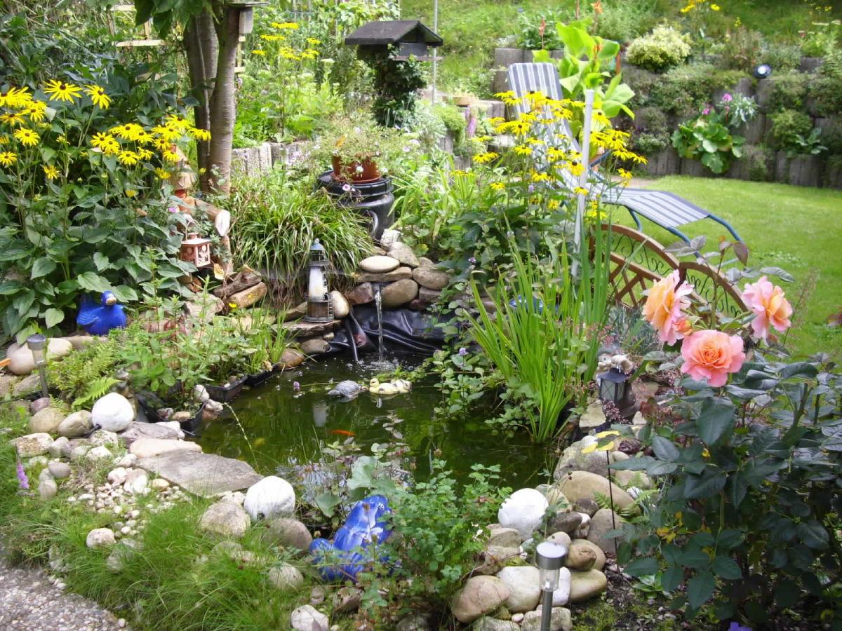 Ferienwohnung haus am soonwald rheinland pfalz for Gartenanlage mit teich