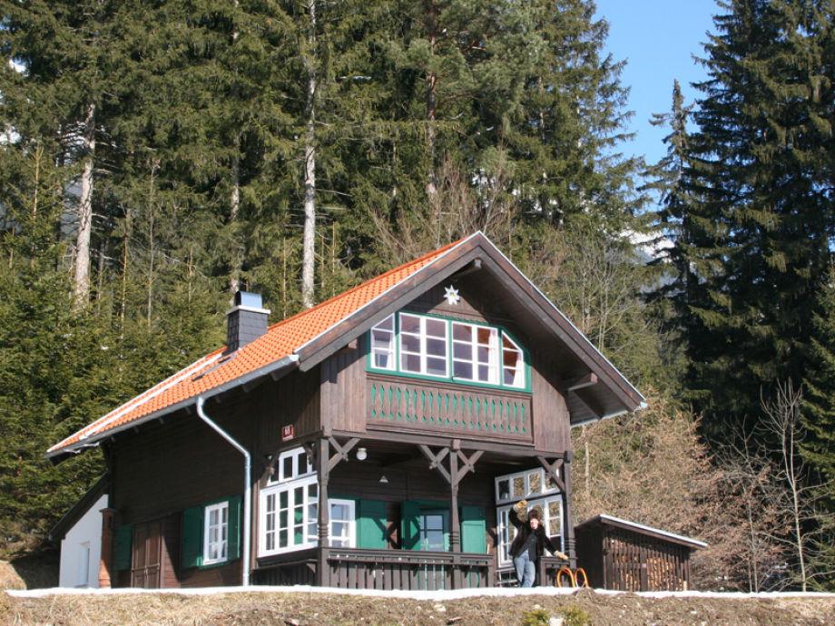 Die Berghütte im Winter