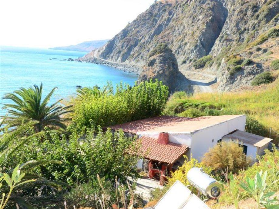 Strandhaus und Meer