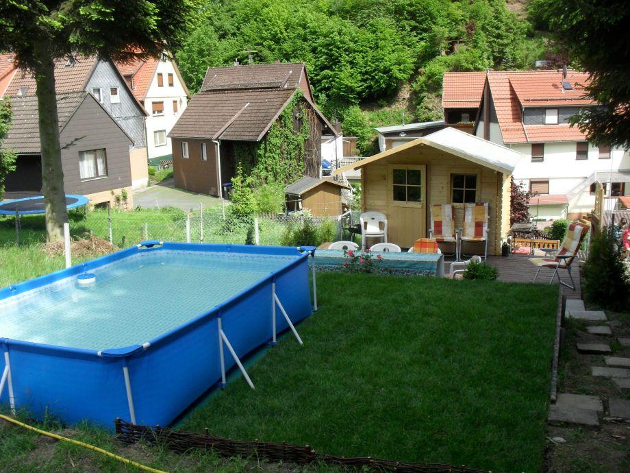 Pool, Gartenhäuschen