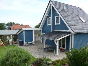 Ferienhaus Schwedenhaus am Fleesensee blau