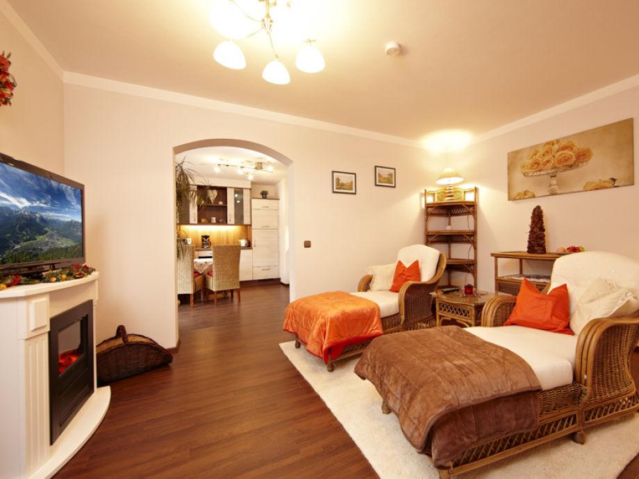 Wohnzimmer mit Relaxliegen