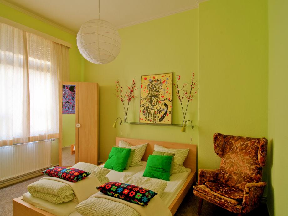 Doppelbett Grün