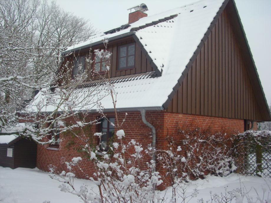 Ferienhaus Winterbild