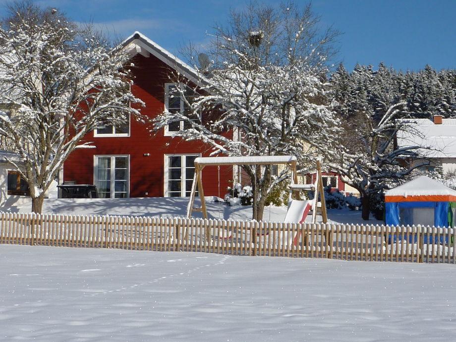 Schwedenhaus im Winter