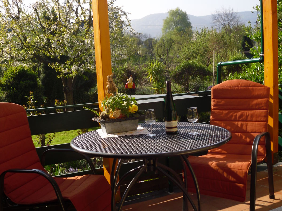 Holiday apartment schwaab at the first floor mittelmosel for Terrace balcony