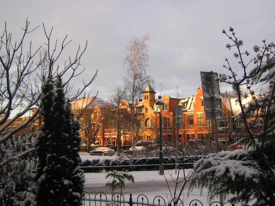Aussicht vom Wohnzimmer im Winter