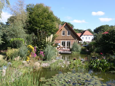 Fachwerkhaus am Teich