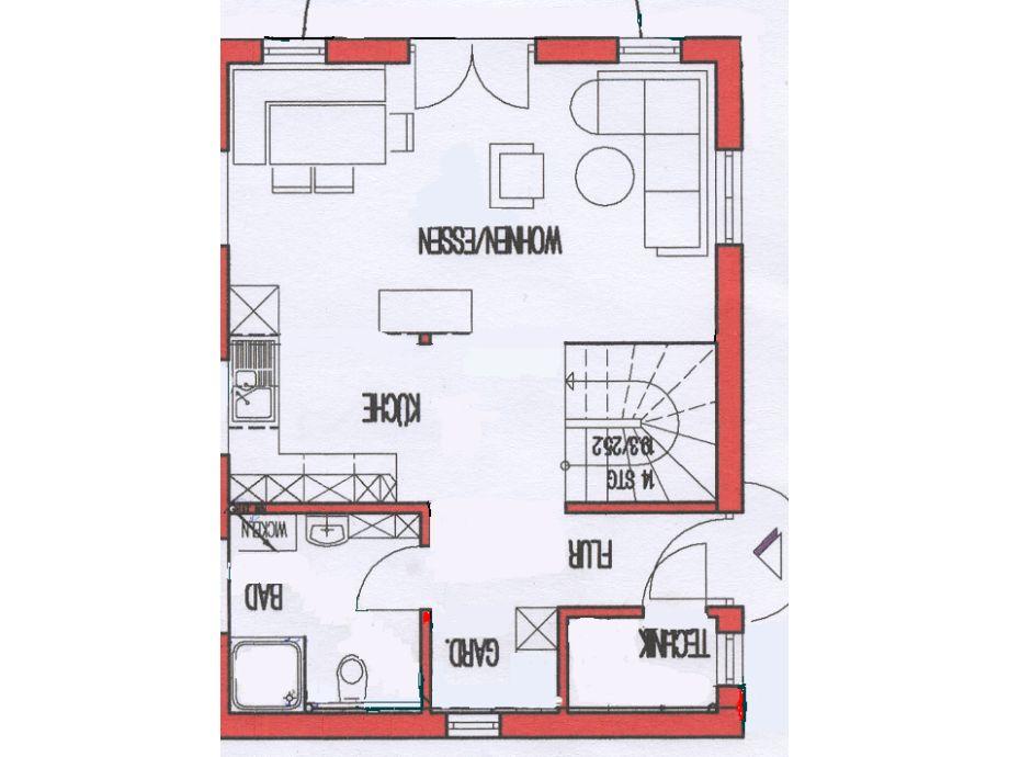 Ferienhaus Grundriss Erdgeschoß