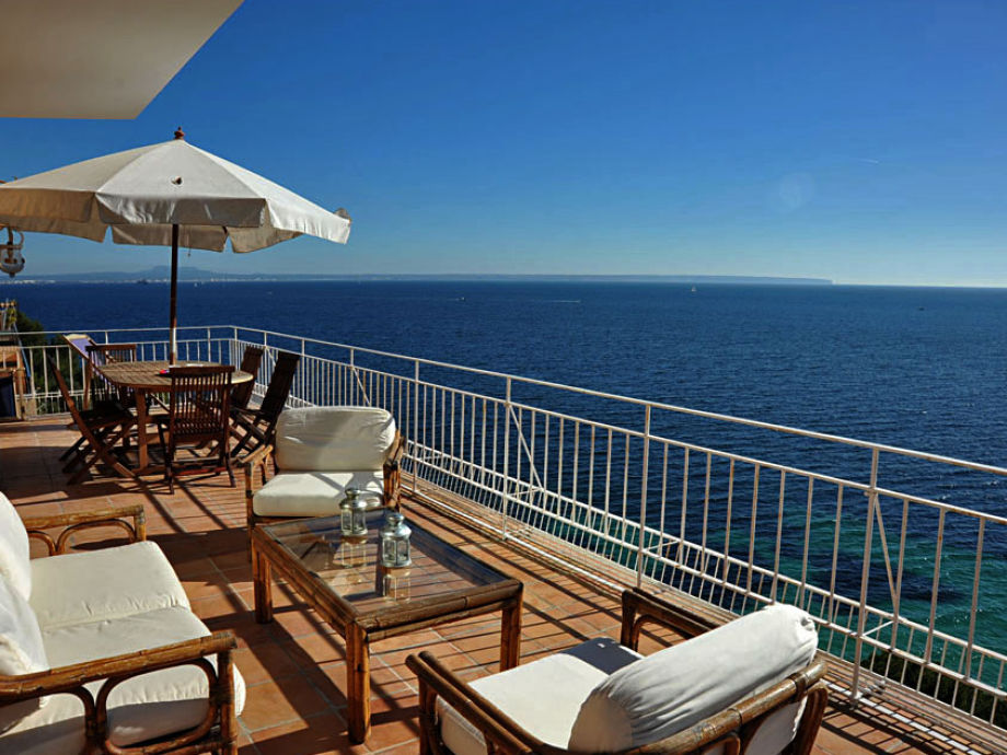 Your private terrace with sea view