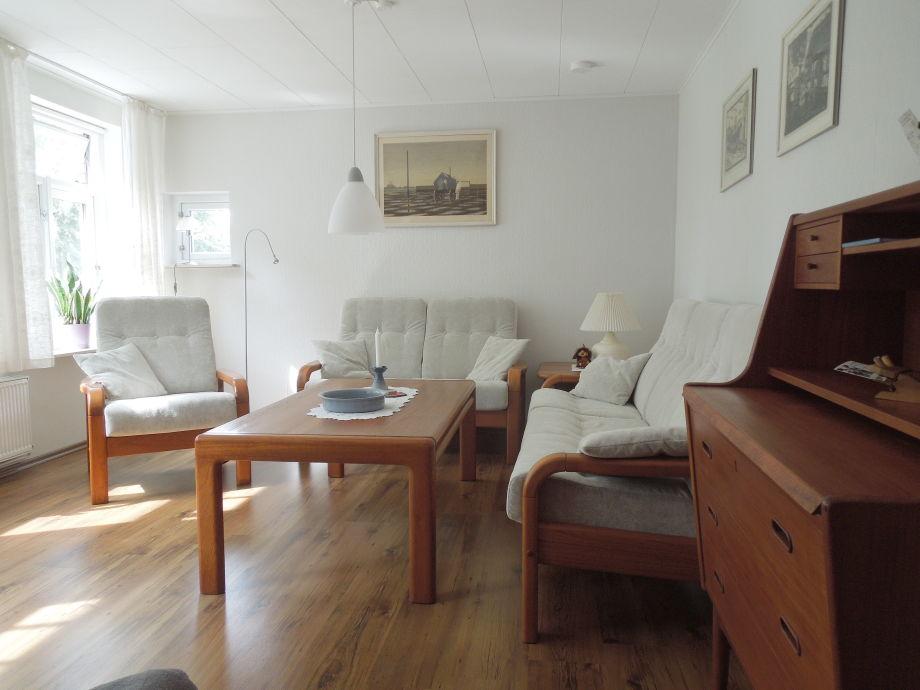 Das Wohnzimmer der Ferienwohnung in Schleswig