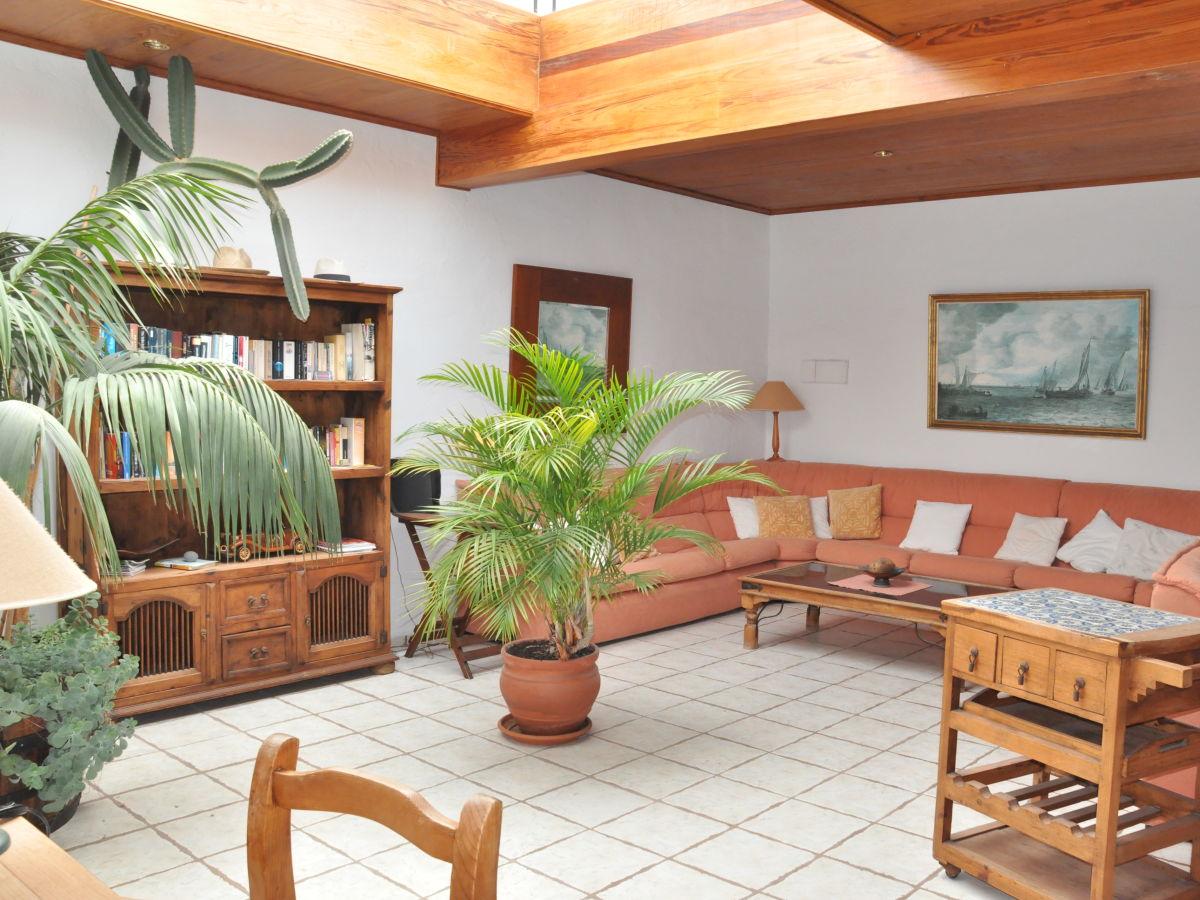 Ferienhaus casa mar y sol am meer westseite el remo for Wohnzimmer mit pflanzen
