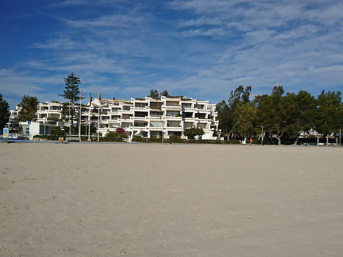 Ferienwohnung alcudia am direkt strand mallorca frau for Design hotel mallorca strand