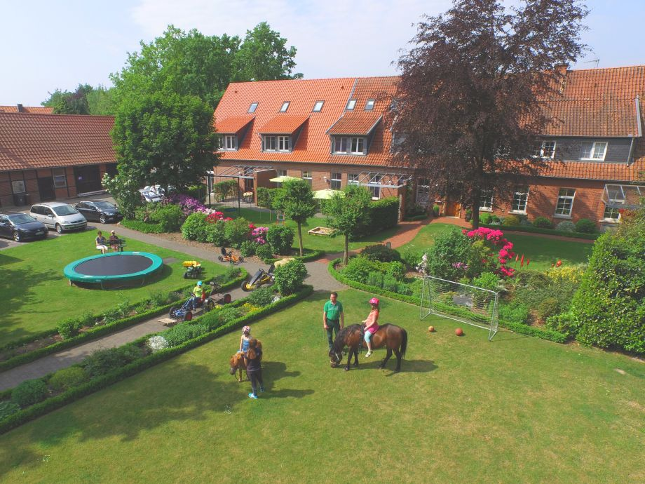 Blick auf den Ferienhof