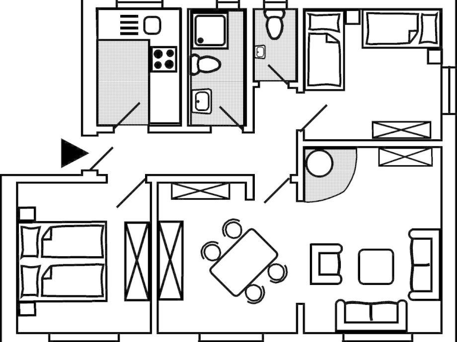 Grundriss 1 zimmer wohnung m bel ideen und home design for Wohnung einrichten grundriss