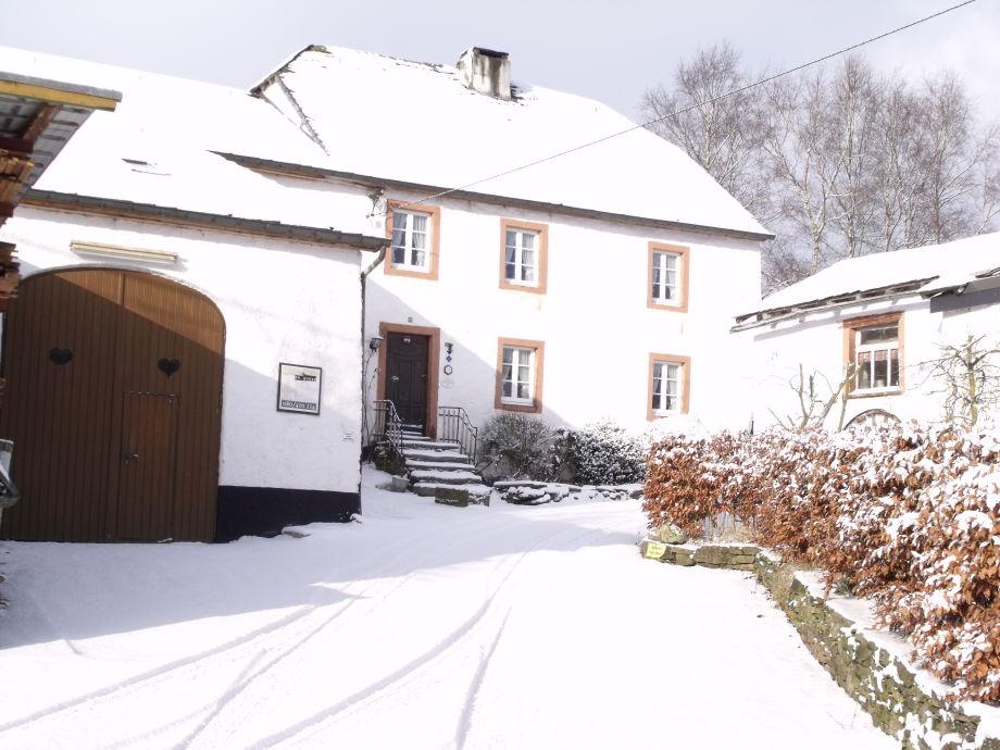 Winter am Ferienhaus Marx