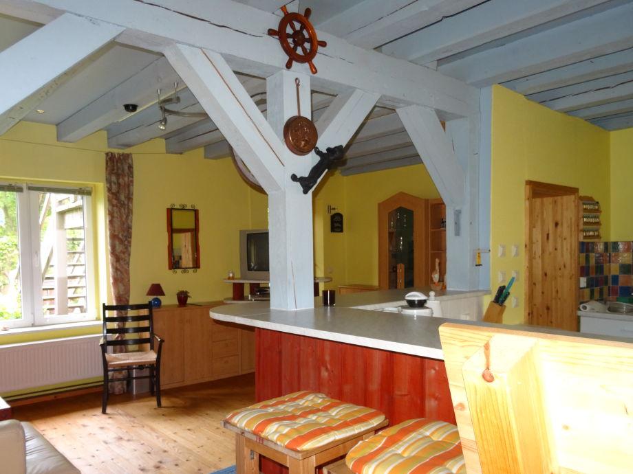 Wohnküche Fewo 80m² Ferienhof Sorgenlos