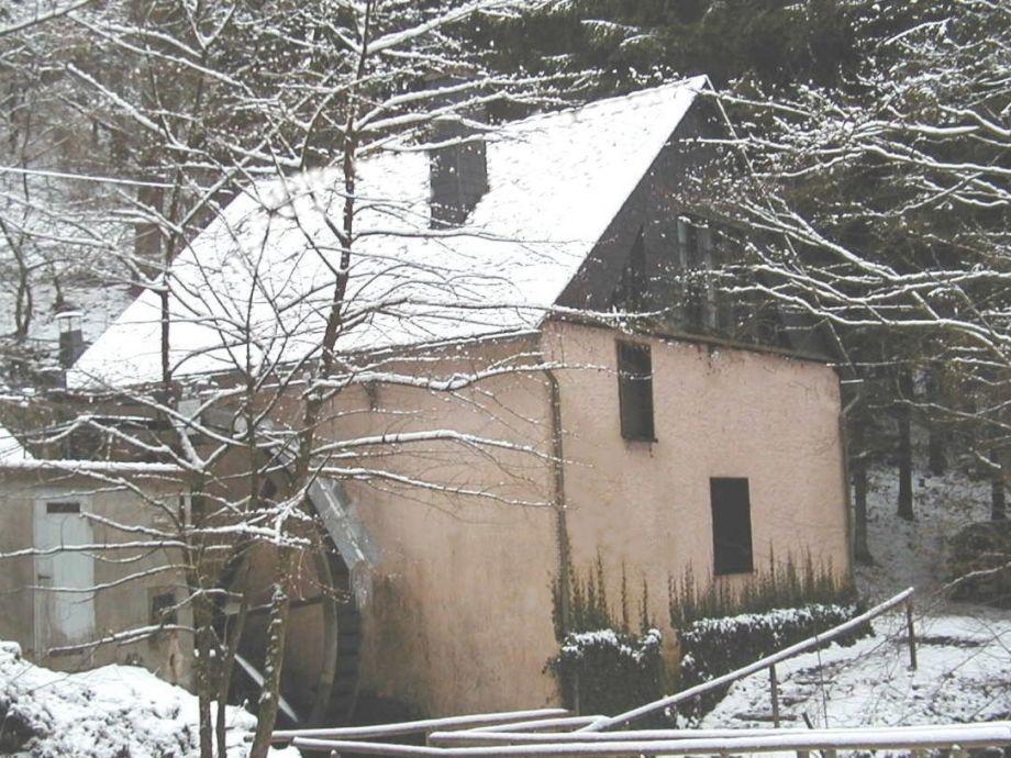 Die Oligmühle im Winter
