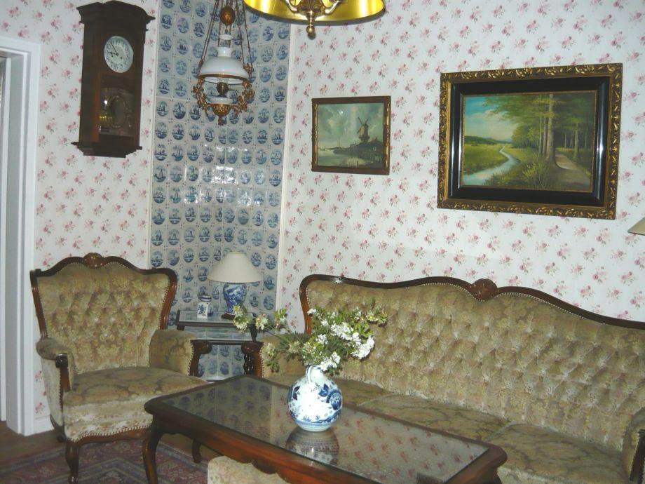 Wohnzimmer mit origin. Delfter Fliesen