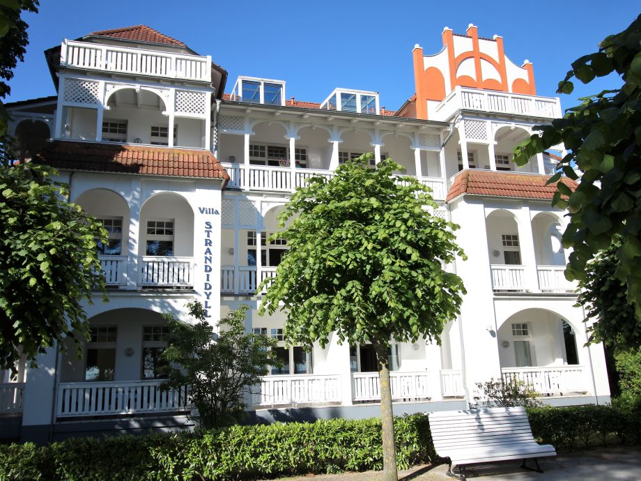 Villa Strandidyll von der Strandpromenade aus