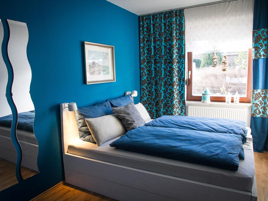 Schlafzimmer Aqua mit Doppelbett (160 x 200 cm)