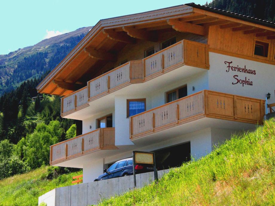 Blick auf unser Ferienhaus