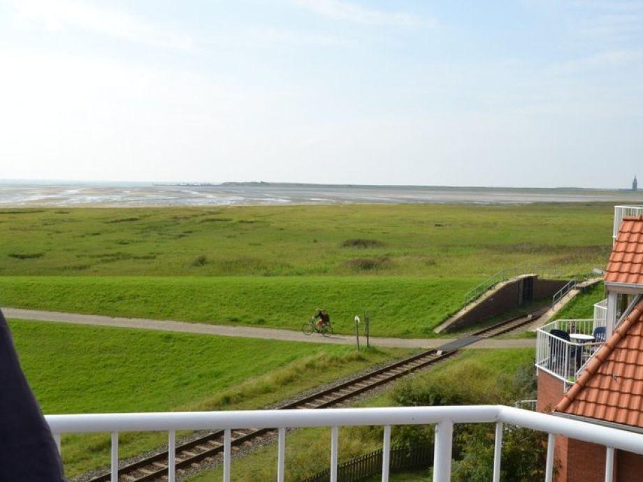 Blick vom Südbalkon zum Wangerooger Westen