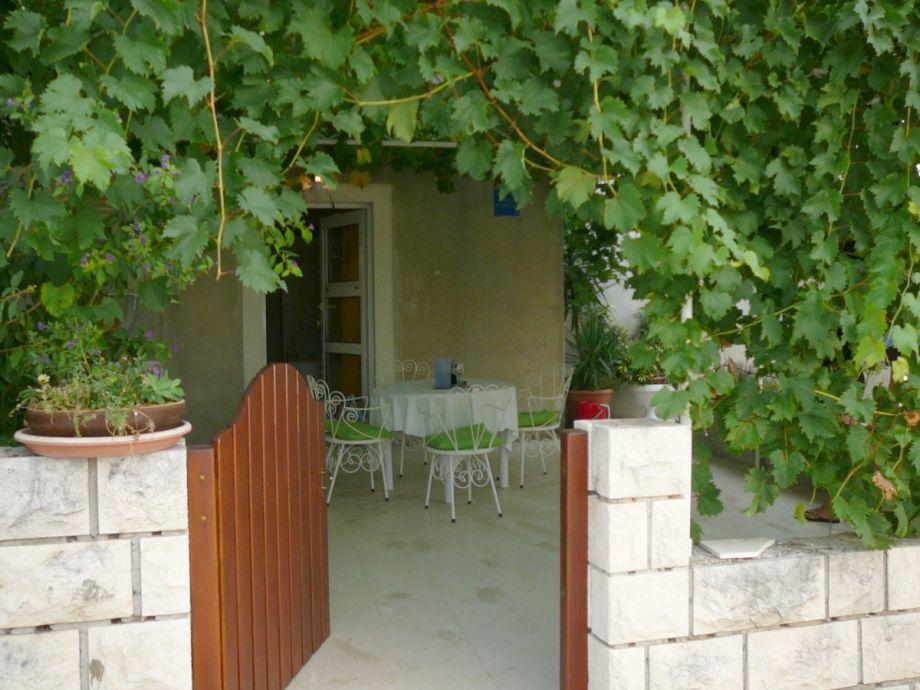 Studio Vanessa für 2 Personen , die Terrasse