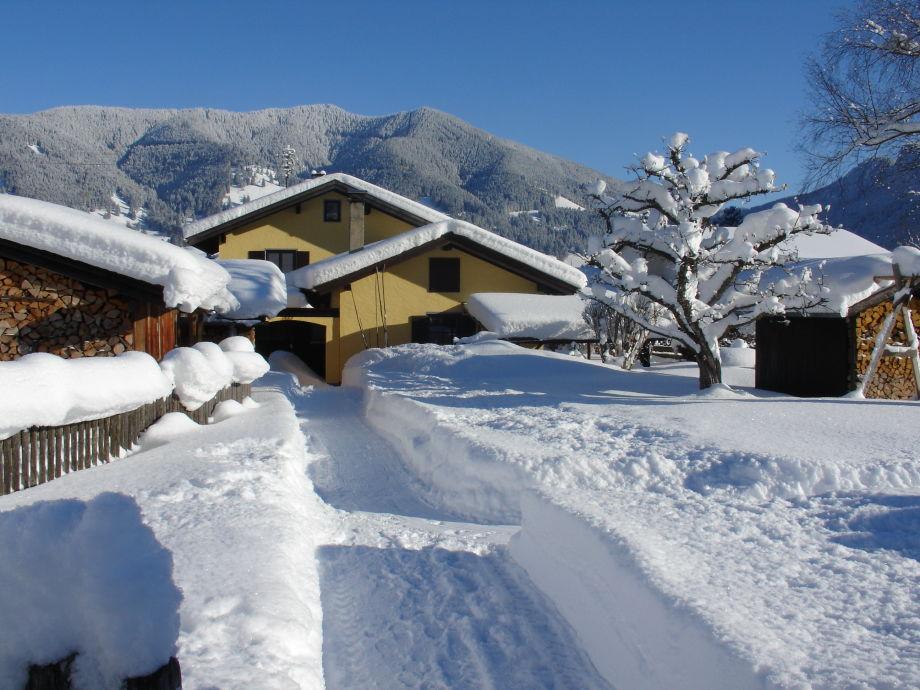 Mit den Skiern direkt bis vors Haus!