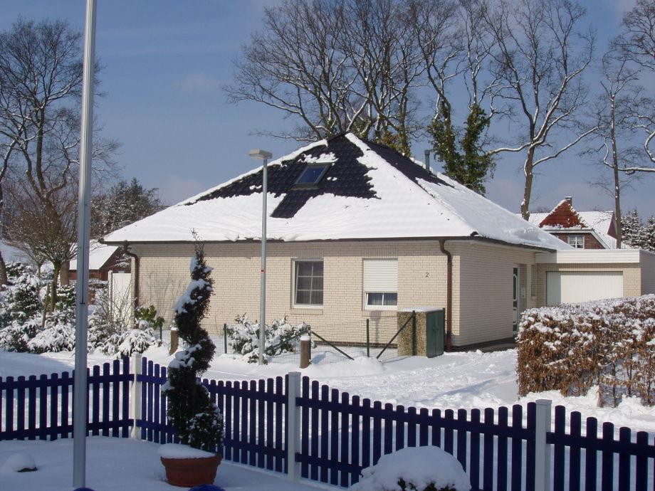 Bungalow im Winter
