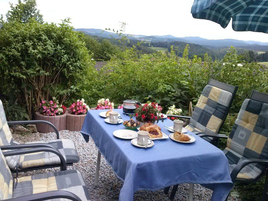 Terasse - Panoramablick bayerischer Wald
