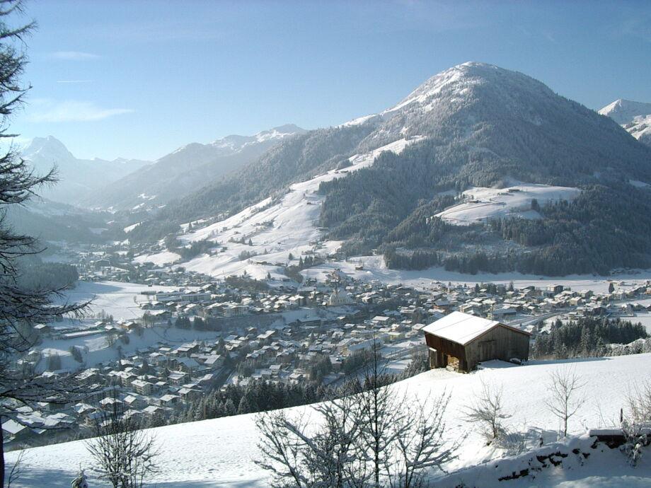 Blick von Terrasse im Winter